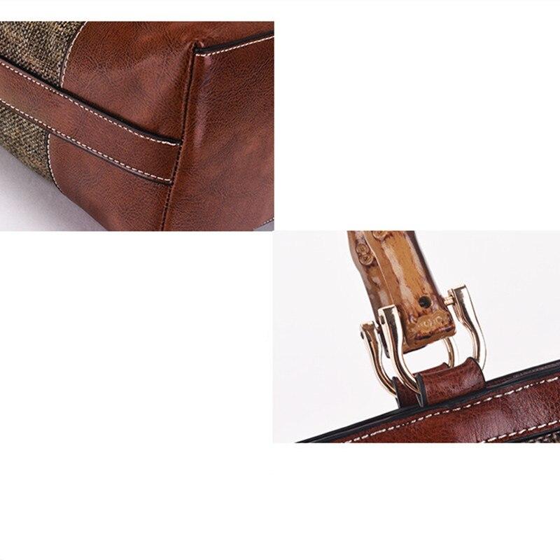 BARHEE Lederen Merk Designer Luxe Dames Handtas Bamboe Handvat Dames - Handtassen - Foto 6