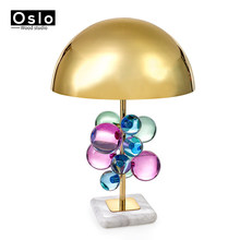 Oslo Wood Fashion crystal table lamps for bedroom luxury crystal table lamp brief modern american luxury crystal decoration lamp(China)