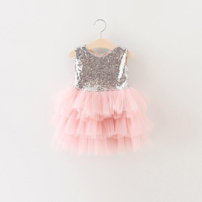 f178a52a4b9d Fasion lentejuelas bowknot del vestido del verano de la Muchacha al por  menor, trajes de los niños, vestido tutú de las muchachas, BW22 en Vestidos  ...
