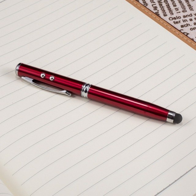 New School Supplies Office Stationery Ball Point Pen LED Laser Light Touch Screen Capacitive Pen Multifunction Pen 1