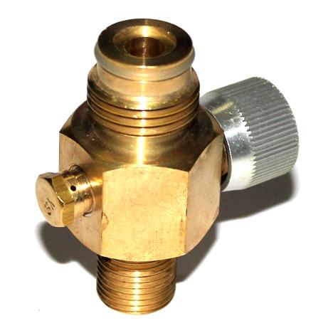 Cilinderluchttank 1/4 Turn CO2-tank Aan / uit klep Koper gemaakt - Het schieten - Foto 3