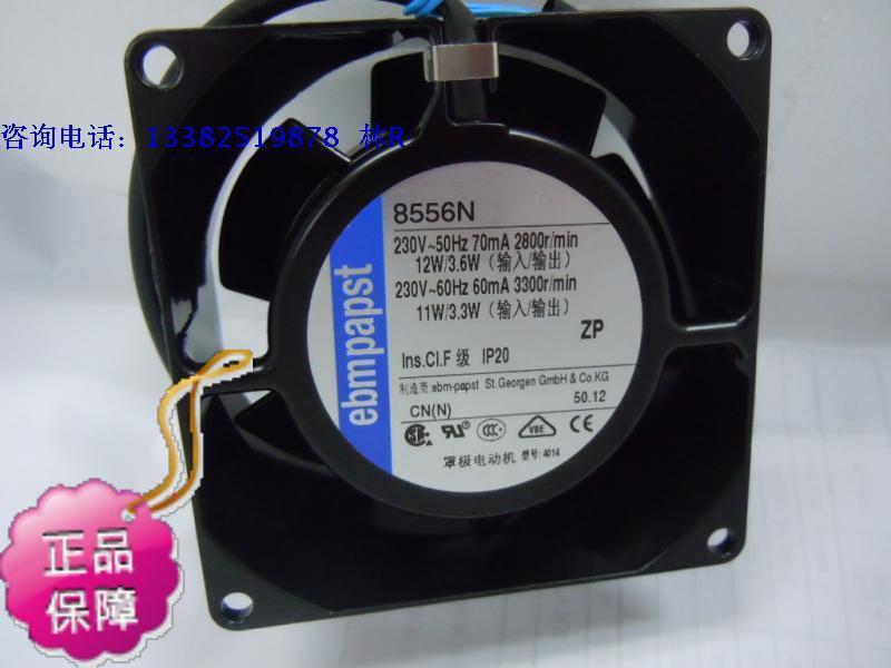 ФОТО New Original ebmpapst 8556N 80*38MM AC230V 12V axial flow cooling fan