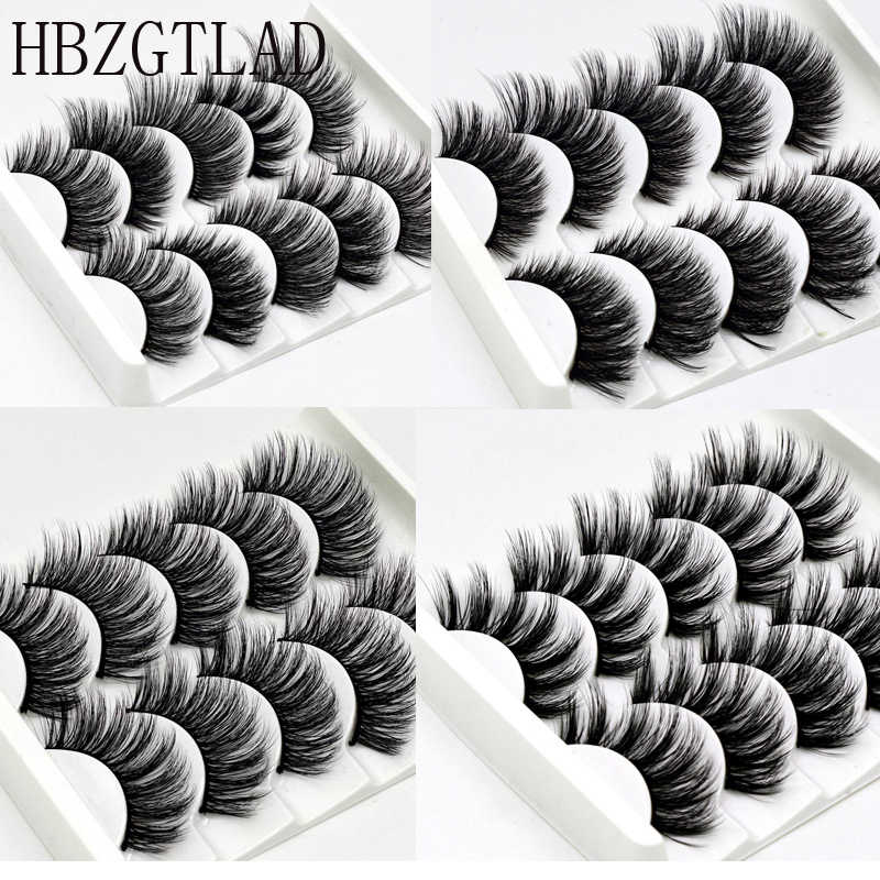 5 пар 3D норковые ресницы накладные ресницы натуральный макияж удлинение ресниц длинные поперечные объем Мягкие Накладные ресницы крылатые искусственные фареты