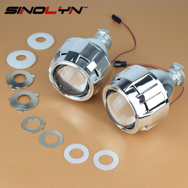 Автомобиль Стайлинг LHD/RHD 2.5 дюйм(ов) WST HID Би ксенон Объектив Проектора Ночник Очки H7 H4 Фары линзы, использование H1 Лампы