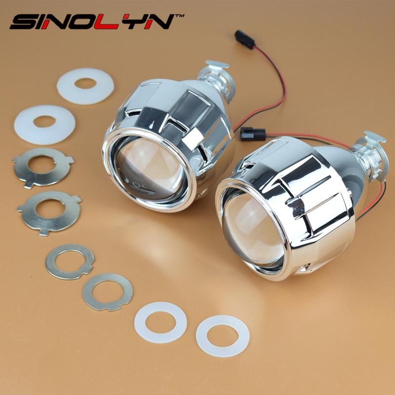 Prix pour SINOLYN Voiture Style Mini 2.5 pouces WST HID Bi xénon Projecteur Objectif Rénovation H7 H4 Projecteur Lentilles, utilisation H1 Ampoules