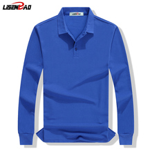 LiSENBAO Brand clothing New Men Polo Shirt Business & Casual solid men polo shirt Long sleeves breathable 1780