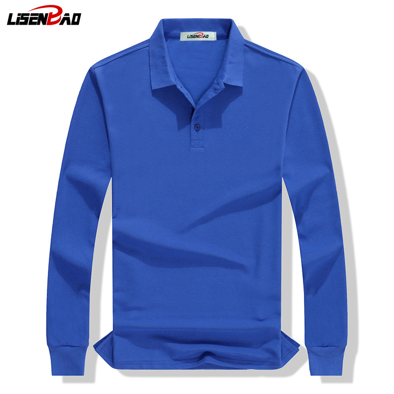 LiSENBAO Brand clothing New Men   Polo   Shirt Men Business & Casual solid men   polo   shirt Long sleeves breathable   polo   shirt 1780