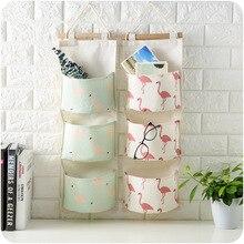 Creative Waterproof Cotton Linen Wall Hanging Storage Bag Multi Pockets Organizers Debris Storage Bag for Bedroom Bathroom banjini bathroom bagping bagping court bag patch card cotton