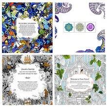 "Set of 4 ""Mandalas Flower"" Coloring Books"