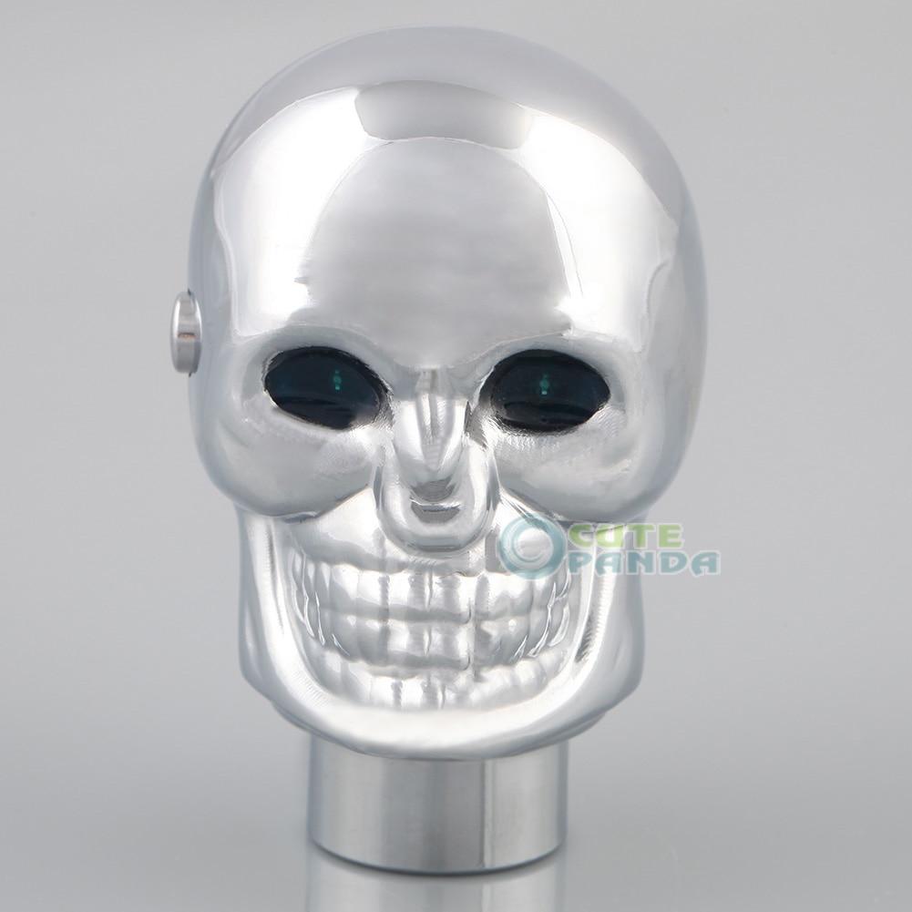 Universal Car Blue LED Skull Head Manual Gear Stick Shift ...