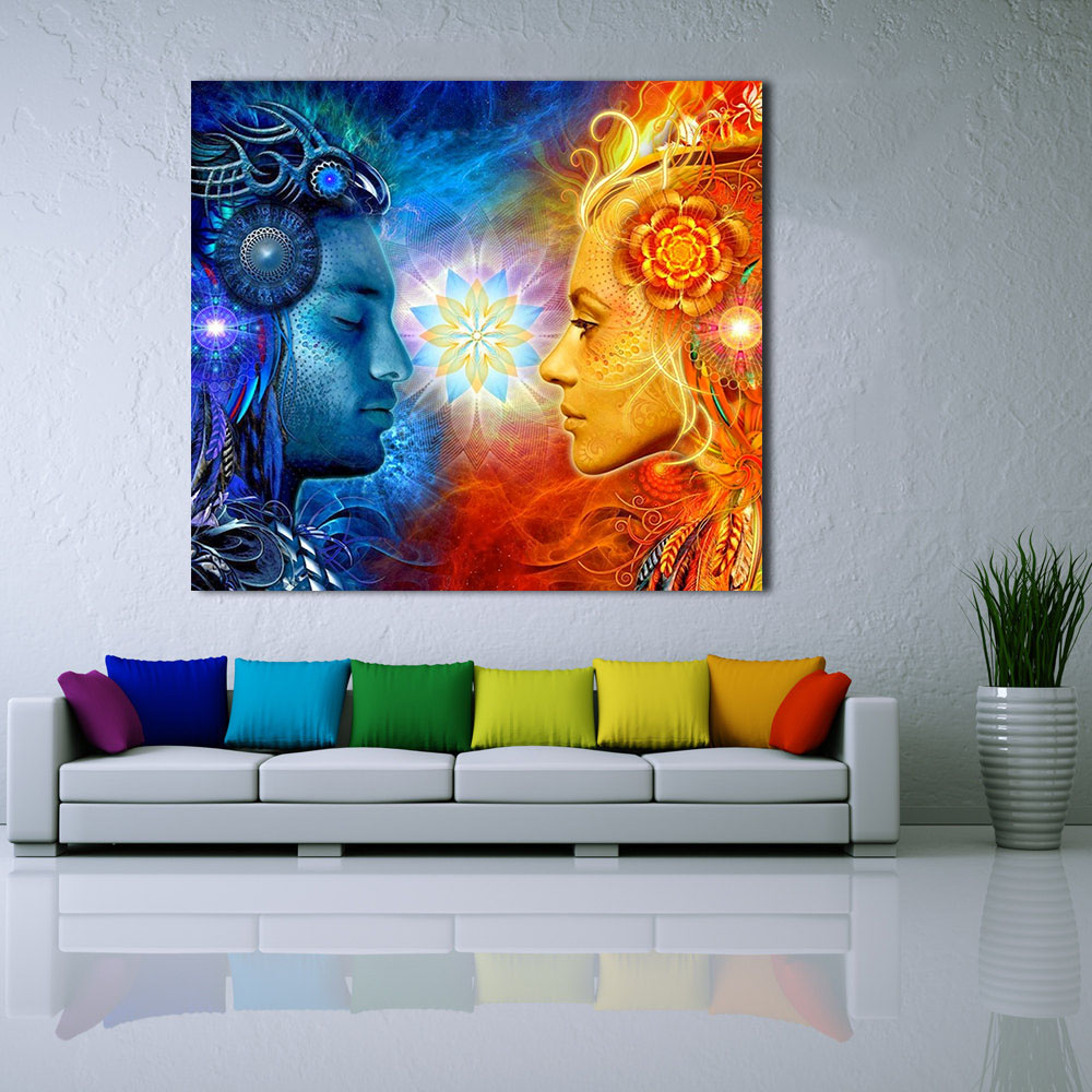 living room art prints jqhyart tantra shiva and shakti wall picture home 14402