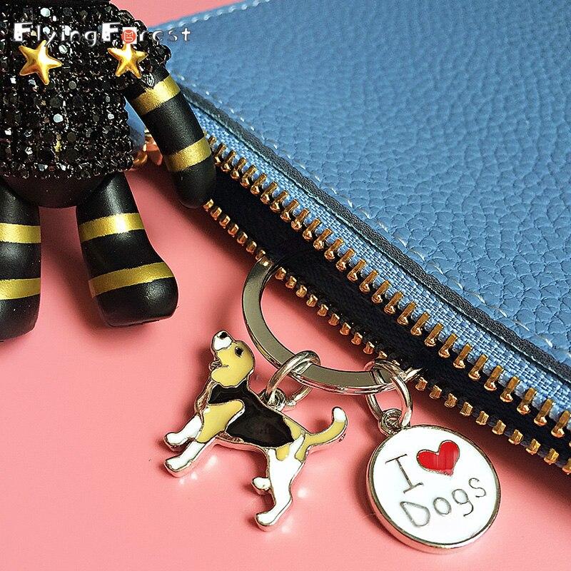 Keychain Cute Keychain Mini Pet Dog Keychains Corgi Keyring DIY Metal Keychains Boyfriend Gift Bulldog Dachshund Bag Charms