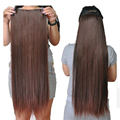 70 cm longitud Super Largo pelucas de Pelo sintético recto Natural 5 clips en las extensiones del pelo Rubio Negro oscuro luz marrón