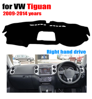 Car Dashboard Covers Mat For VOLKSWAGEN VW Tiguan 2009 2014 Right Hand Drive Dashmat Pad Dash