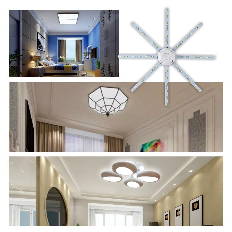 Купить с кэшбэком LED Ceiling Lamp Octopus Light 12W 16W 20W 24W LED Light Board 220V 5730SMD Energy Saving Expectancy LED Lamp Cold Warm white
