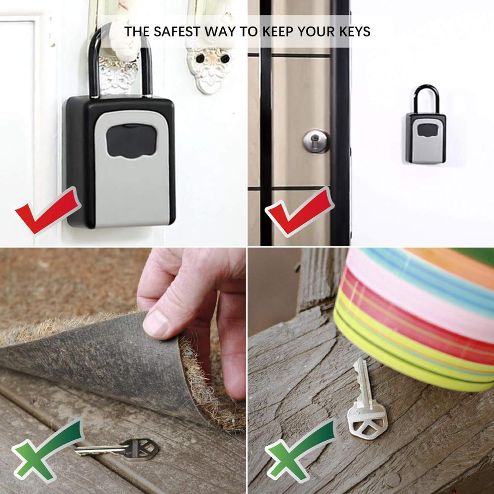 Key Lock Box Combination Lockbox With Code For House Key Storage Combo Door Locker