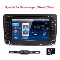 Two Din 7 Inch Car DVD Player For VW Volkswagen POLO PASSAT Golf Skoda Seat With