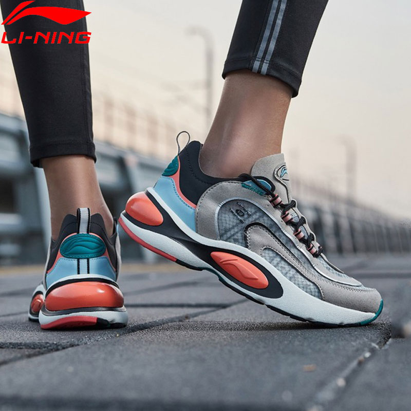 Li-Ning Women V8 Cushion Running Shoes LN CLOUD LITE Retro Support LiNing Li Ning Sport Dad Shoes Sneakers ARHP128 XYP912