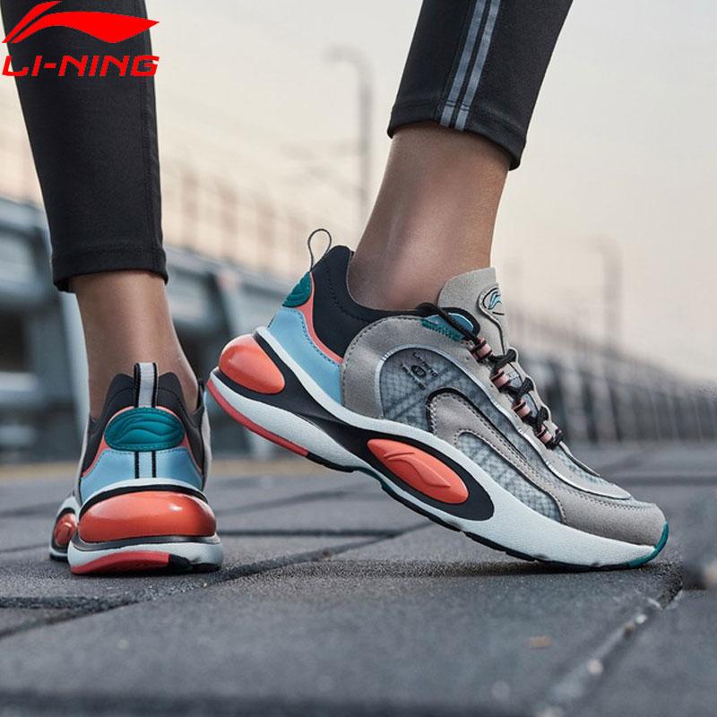 Li-Ning Women V8 Cushion Running Shoes LN CLOUD LITE Retro Support LiNing Li Ning Sport Dad Shoes Sneakers ARHP128 XYP912