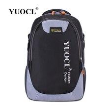 Yuocl моды случайные двойной плечо рюкзак путешествия для женщин школьные сумки для подростков печать мужчины рюкзак мешок DOS