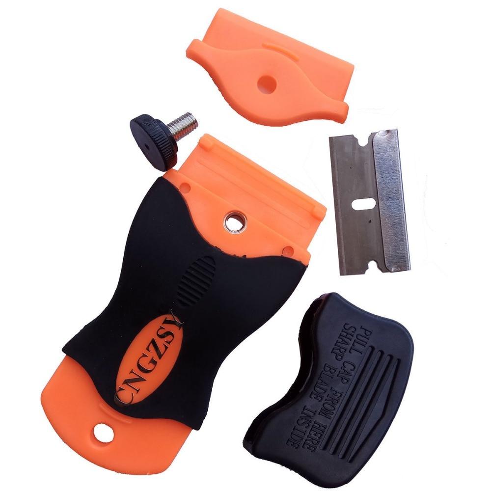 Window Glue Air Remover Mobile Phone Razor Scraper Car Snow Shovel Caramic Ice Scraper with 20pcs Spare 1.5 inch Blades E12+20M