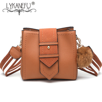 LYKANEFU 2018 NEW Women Bag Cross Body Vintage Style Women Messenger Bags With Wide Strap Small