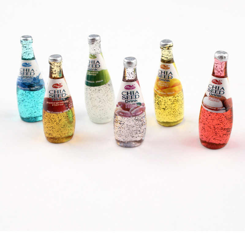 CCINEE Fruit Drink Bottle Resin Multiple Styles Diy Resin Accessories DIY Craft Supplies