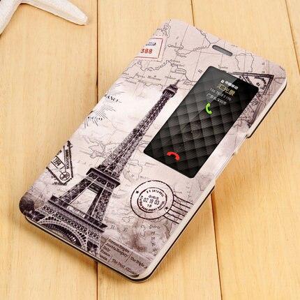 """Цена за Huawei Honor X2 защитный чехол MediaPad X2 откидная крышка искусственная кожа Обложка GEM-703L умного окна мультфильм живопись 7.0"""""""