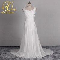 Sexy Wedding Dress See Through Back Lace Applique Casual Boho Chic Beach WEdding Dress 2017 White