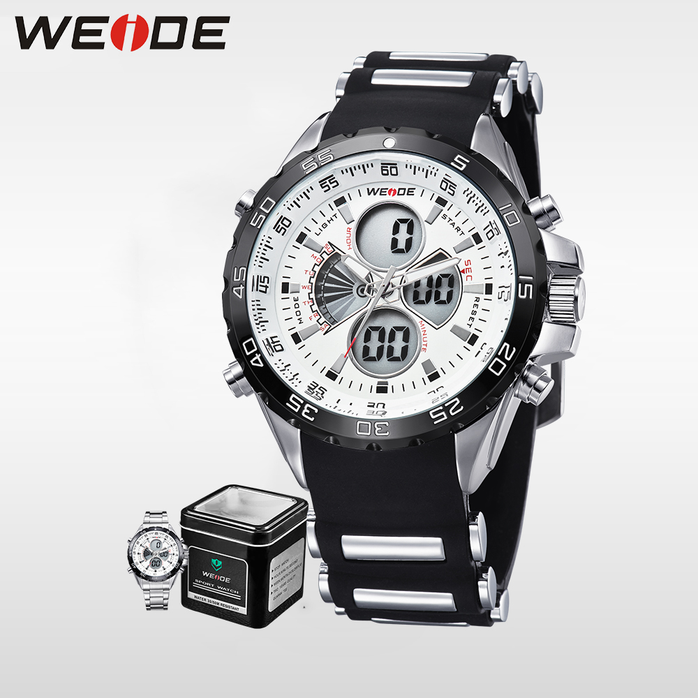 Weide Genuine men shockproof waterproof electronic watch  quartz men sports LCD chronograph white relogio automatico alarm clock weide new men quartz casual watch army military sports watch waterproof back light men watches alarm clock multiple time zone