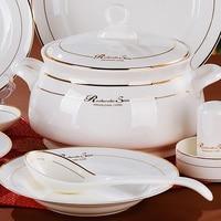 Столовая посуда 56 шт. набор кухня дизайн услуги чашки таблички набор посуды фарфоровые миски чаши набор чашек тарелки чаша
