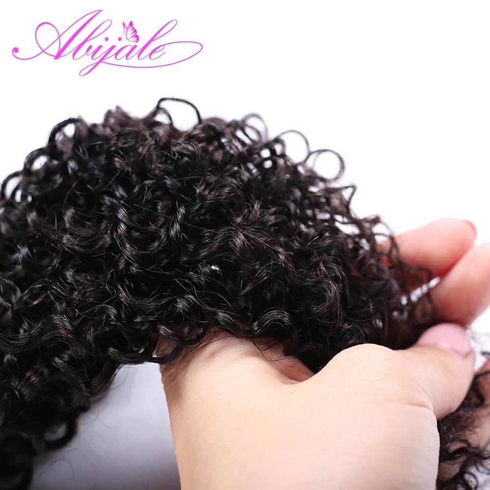 Abijale Kinky Curly Bundles With Closure Human Hair Bundles With Closure Remy Brazilian Hair Weave Bundles