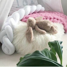 New Braided Knotted Ball Pillow Sofa Pillow Creative Simplicity Children and Kid Room Decoration 1500mm цена
