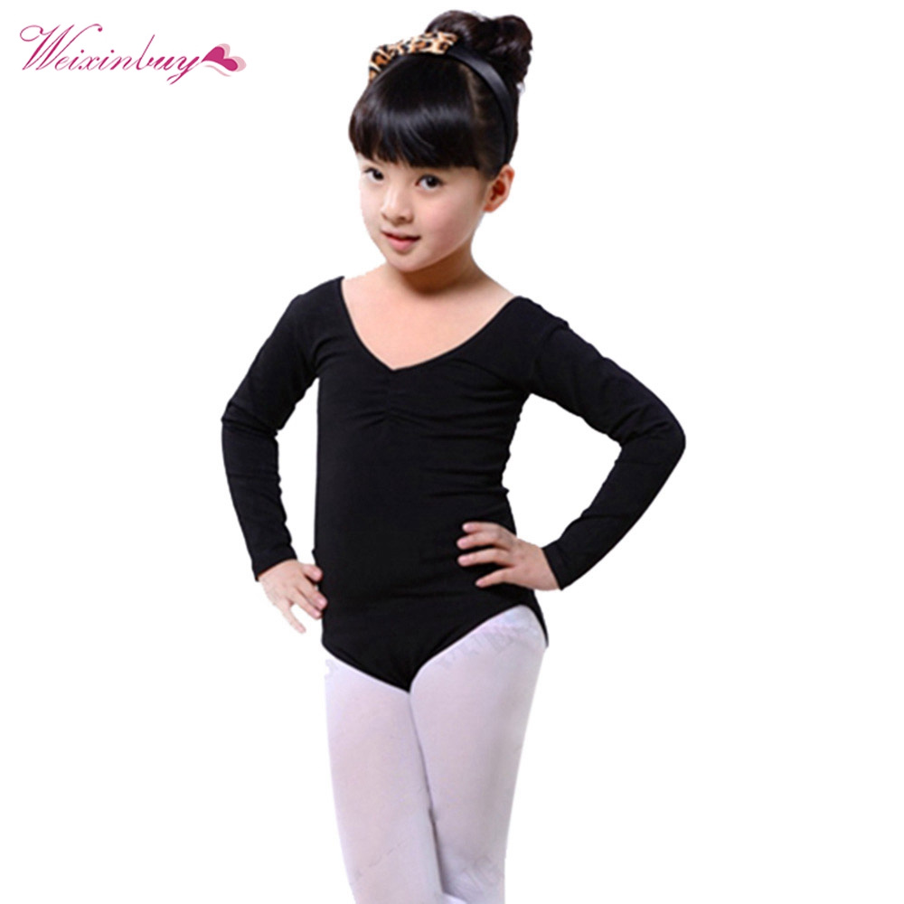 Baby Girl Toddler Ballet Dance Clothes Gymnastics Skating Long Sleeve Leotards Costumes new girls ballet costumes sleeveless leotards dance dress ballet tutu gymnastics leotard acrobatics dancewear dress