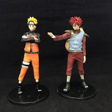 WVW 2pcs/Set Hot Sale Anime Heroes Naruto Uzumaki Naruto Gaara Model PVC Toy Action Figure Decoration For Collection Gift