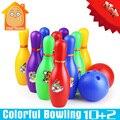 Minitudou bola de boliche de dibujos animados de colores estándar set niños kids educational toys juego juego de pelota deporte al aire libre de interior