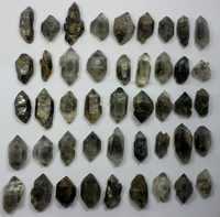 45pcs NATURAL Tibetan BLACk Phantom Crystal QUARTZ Double Terminating Specimen