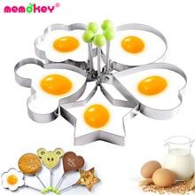 Memokey 5pcs/set Stainless steel Cute Shaped Fried Egg Mold Pancake Rings Kitchen Tool CC