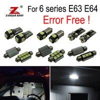 18pcs LED License plate lamp + Interior Lights bulb Kit for BMW 6 series E63 E64 630i 635d 630ci 645ci 650ci 650i M6 (04 10)