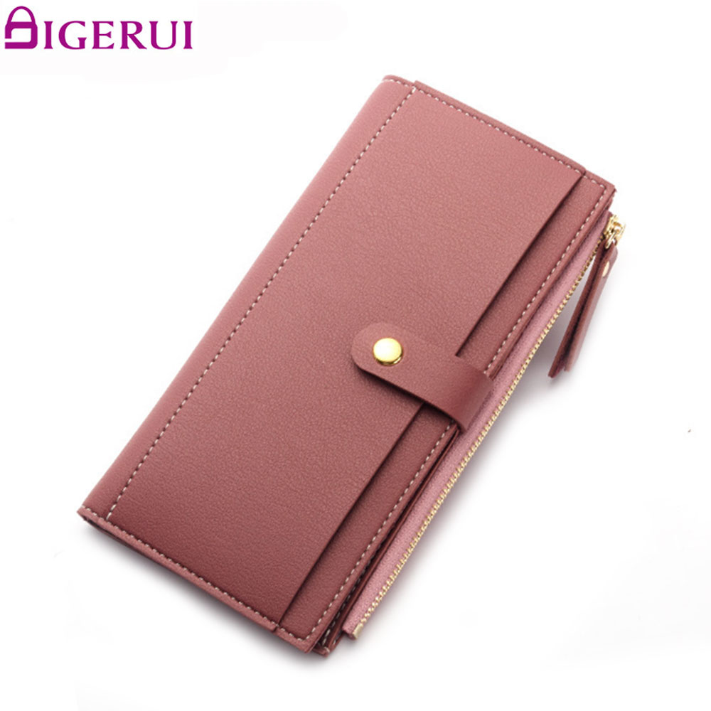 DIGERUI Fashion Wallet Hasp Women Purse Card Holder Wallets PU Women Wallet Multifunctional Long Wallet Vintage Clutches A1479