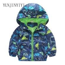 Cute dinosaur spring childrens jacket autumn boy clothes coat vitality children windbreaker