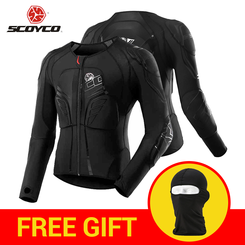 SCOYCO Motocross Protection Gear Moto Protective Jacket Motorcycle Armor Racing Body Armor Black Motorcycle Jacket Moto Armor scoyco motorbike motorcycle motocross racing body armor riding protective gear absorbent perspiration breathable shirt stretch