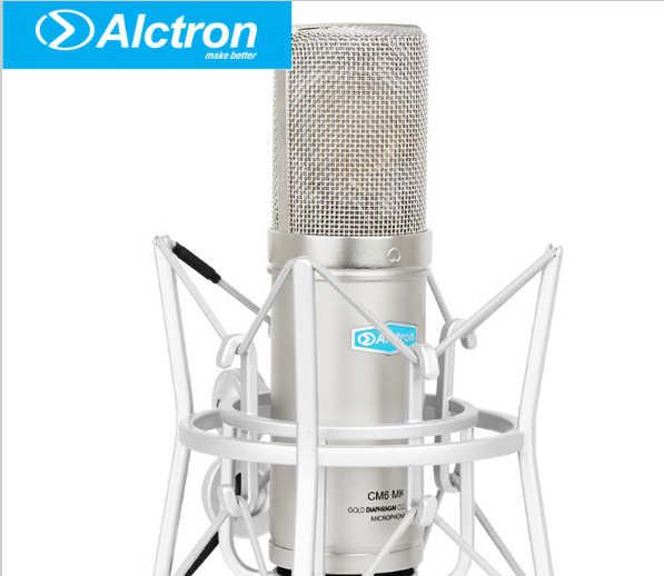 Оригинальный Alctron cm6mkii профессиональный конденсаторный микрофон проводной Микрофон Звук Studio для Запись комплект KTV караоке с подвесом