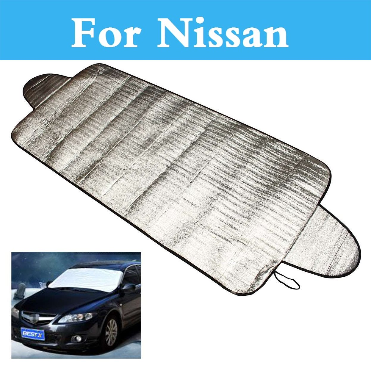 Car Windshield Cover Snow Ice Frost Visor Shade Sunshade For Nissan Sylphy Cedric Cima Crew Dualis ExpeGloria GT-R Juke Bluebird