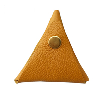 FBK Brand New Fashion Classic Simple Triangle Handmade Coin Purse Hasp Practical Cool Personality Genuine Leather