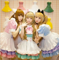 5 in 1 set New fashion cartoon anime maid cosplay for women lolita princess adult dress set for Halloween party