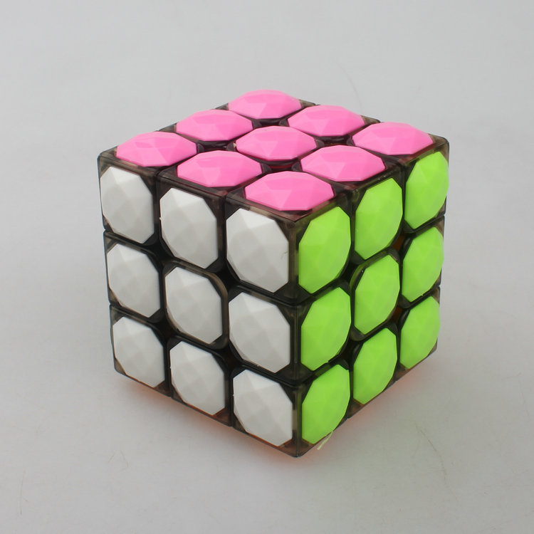 YONGJUN Magic Cube 3*3*3 Plastic Magic Cube Professional Competition Super Smoothness 3 Magic Cube