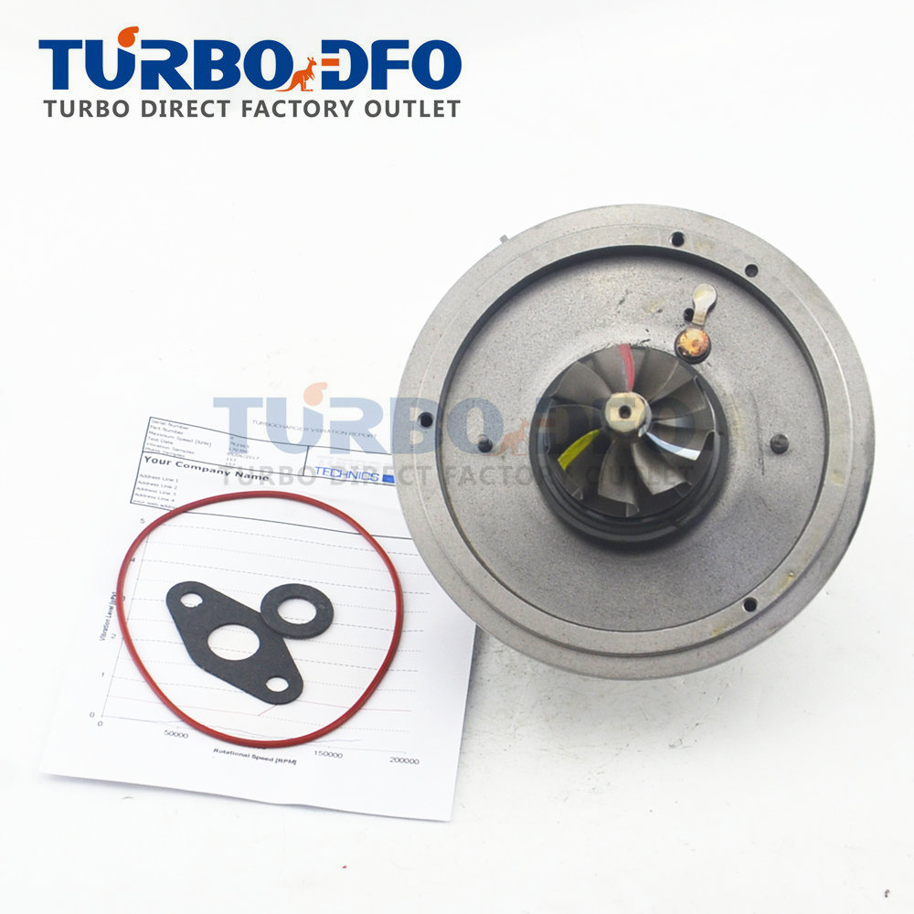 <font><b>GT1752V</b></font> turbo core NEW for BMW 520D E60 E61 E60N E61N 110 Kw 150 HP M47D20 - turbine cartridge Balanced 762965-5020S 11657794022 image