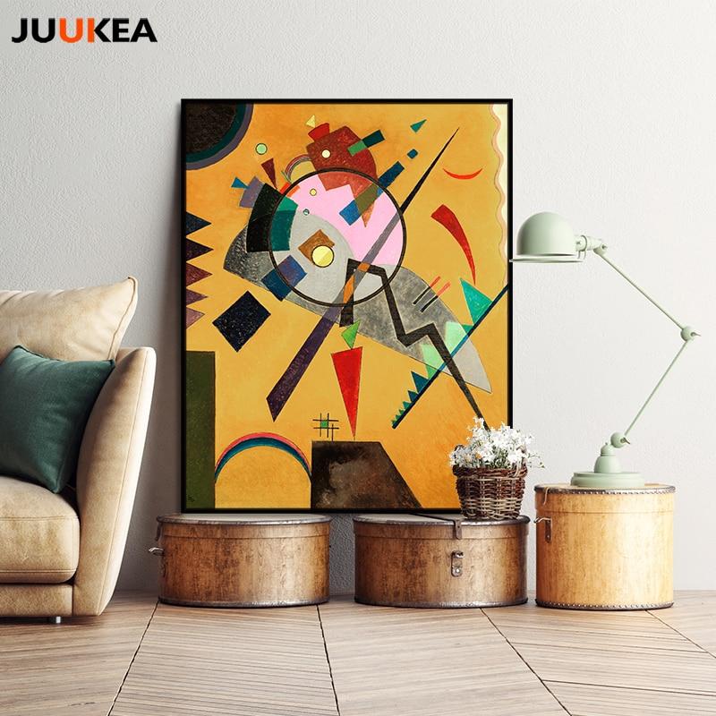 Wassily Kandinsky Rose Avec Gris Classique Géométrique Abstraite Art Toile Impression Peinture Affiche Mur Photos Pour La Décoration De La Maison