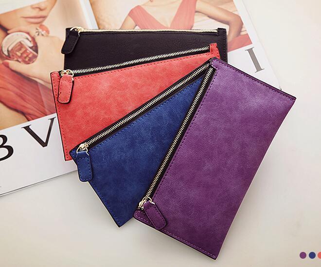 2018 Frans BA Ms fashion Wallet Zipper bag simple Purse the new lady long wallet